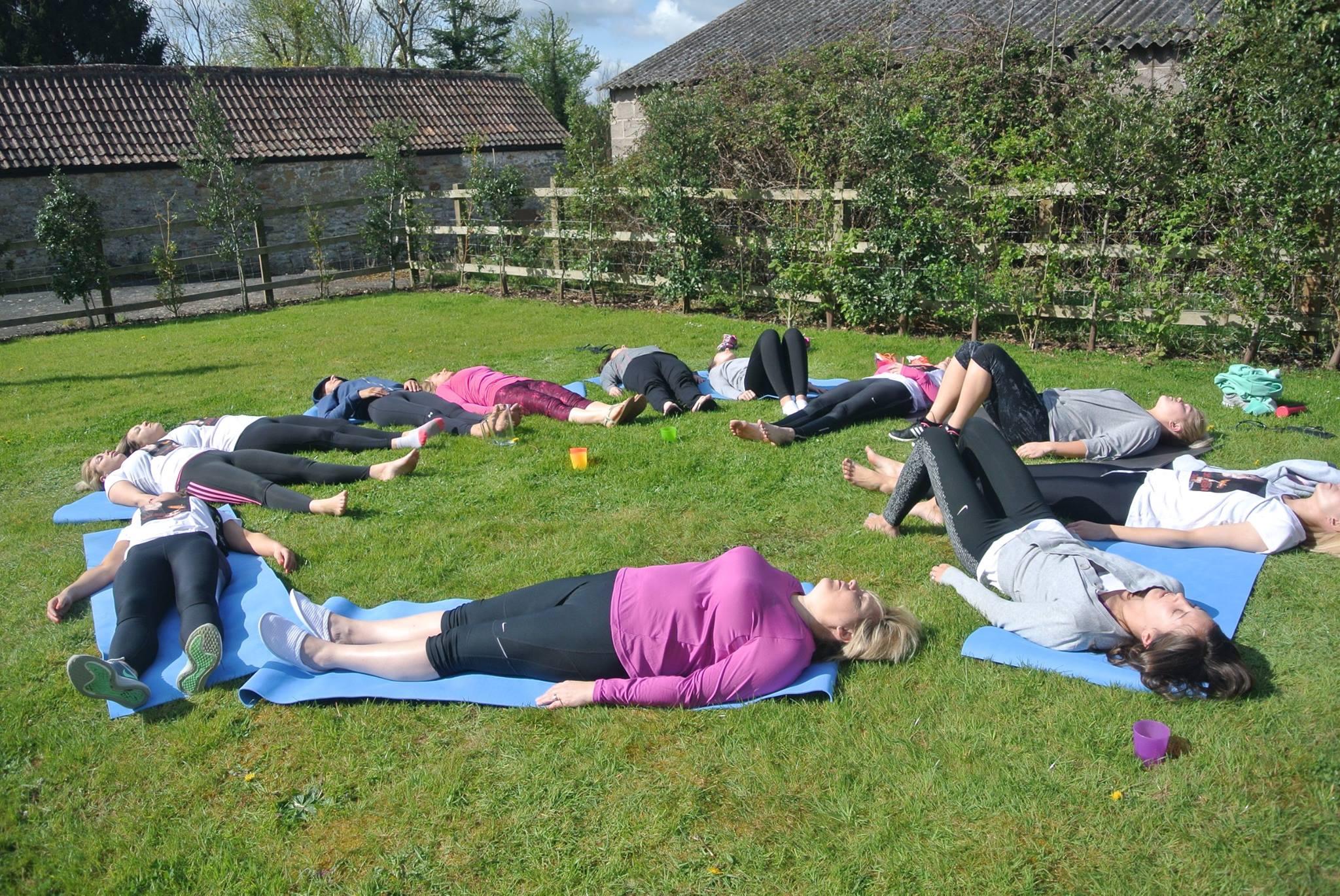 Keynsham Park outdoor Yoga